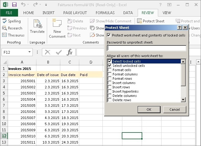 how do you password protect an excel file but allow read only